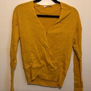 Cable Vee neck sweater